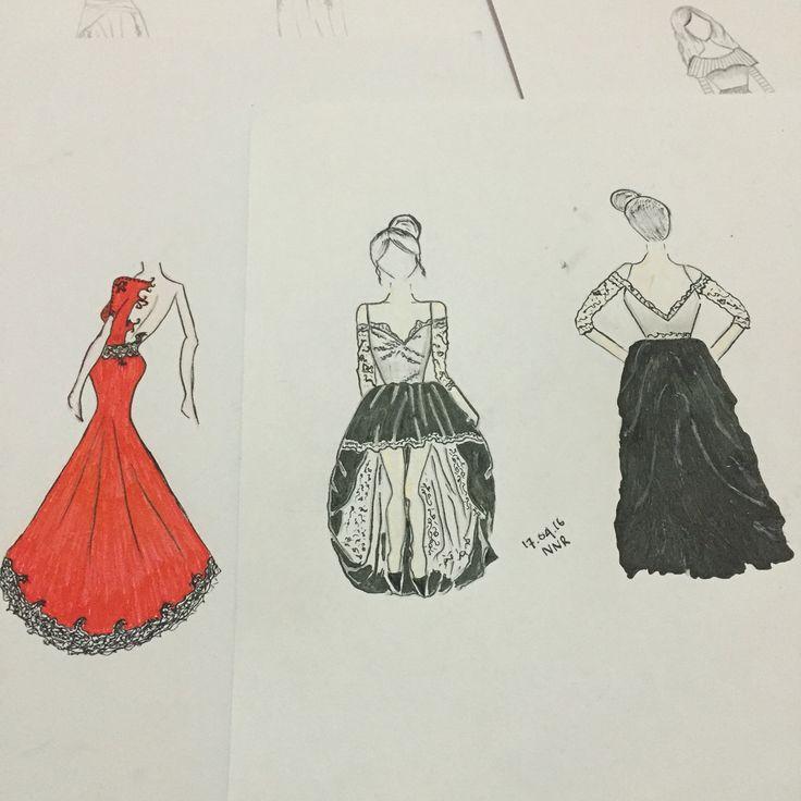 Sketch dress. Sunday mood