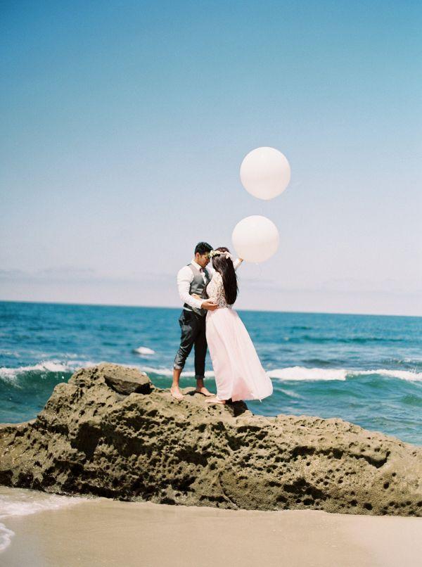 beach wedding places in california%0A Chic California Beach Elopement