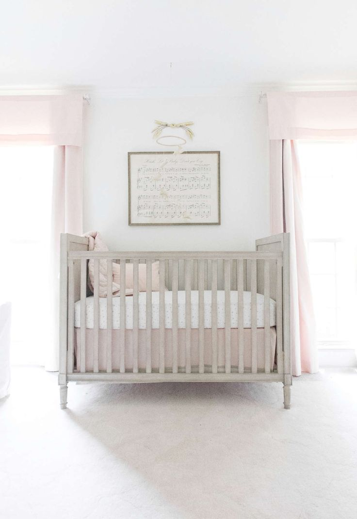 Baby cribs little rock ar - A Classic Polished Pink Nursery For A Baby Girl