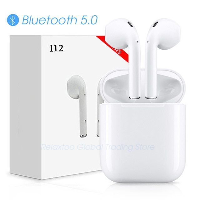 I12 Tws Bluetooth Earphone Wireless Earphones Touch Control Earbuds 3d Surround Sound Earbuds Bluetooth Wireless Earphones