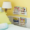 mounting reading material racks to the wall in kids bunk area - brilliant // bhg.com
