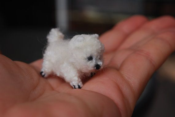 Miniature crochet puppy Tea Cup Pomeranian customisation