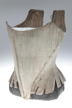 Canvas stays (corset) stiffened with paste. (1775)