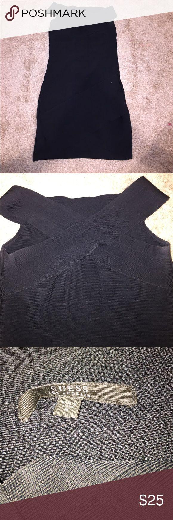 Guess Dress LBD Body con off the shoulder guess dress Guess Dresses Mini