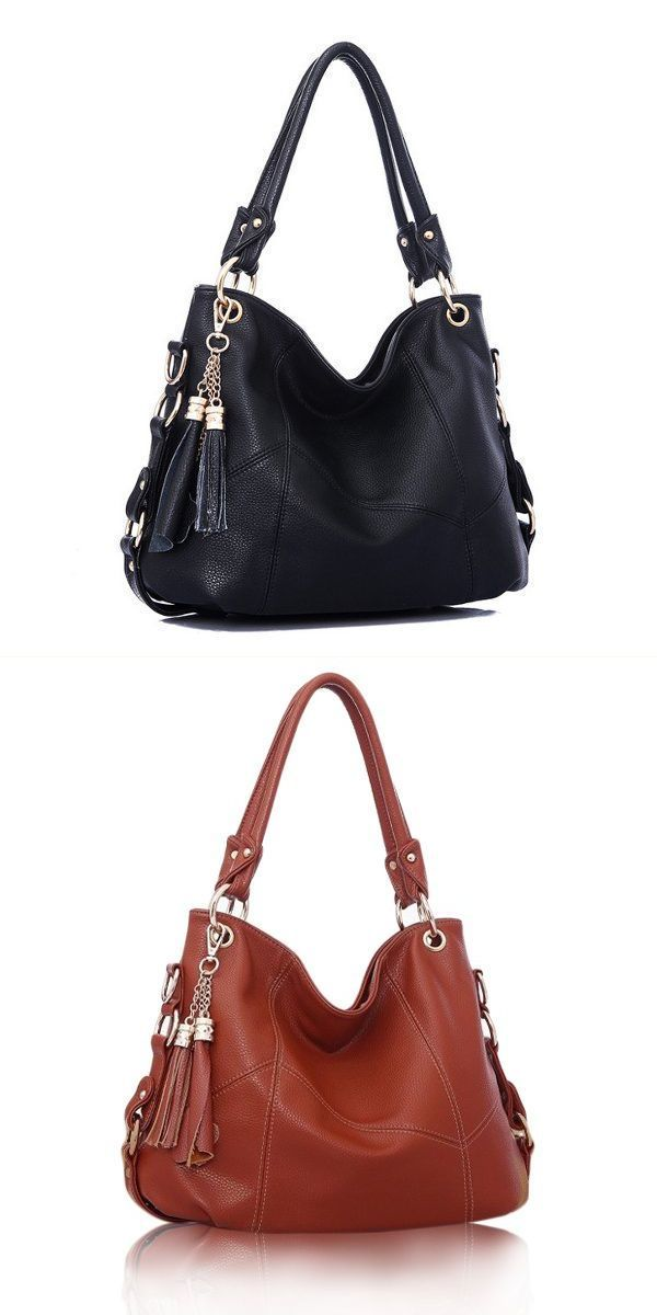 Vintage Women Embossed Pu Leather Motorcycle Bag Tassel Handbag Hamp M Handbags Canada 4
