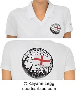 Golf Fans England Polo Shirt by SportsArtZoo #England #golf #shirt #female