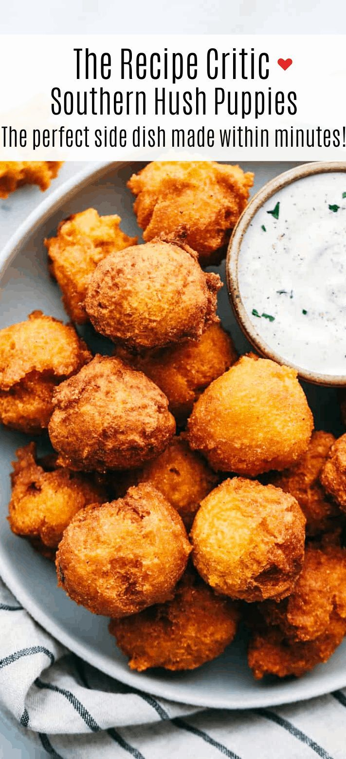 Southern Hush Puppies Are Golf Ball Sized Light And Flakey Cornmeal Dough That Is Fried Golden Brown On The In 2020 Hush Puppies Recipe Easy Hush Puppy Recipe Recipes