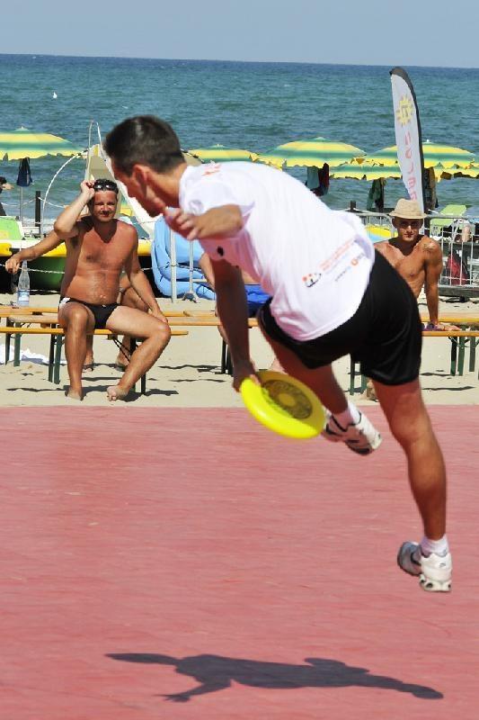 Foto dei Mondiali di frisbee freestyle a Riccione 2012