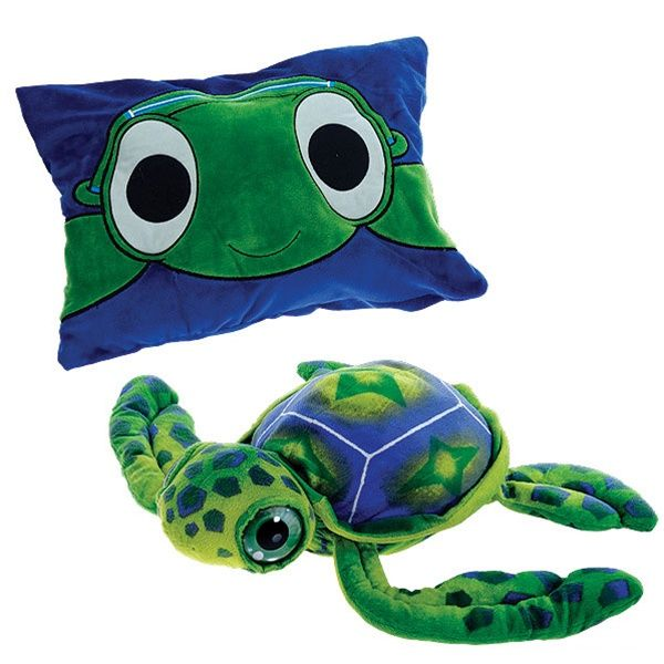 Stuffed Sea Turtle Peek A Boo Plush Reversible Pillow By Fiesta at Stuffed Safari