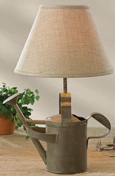Verde Watering Can Lamp available @ CountryPorch.com