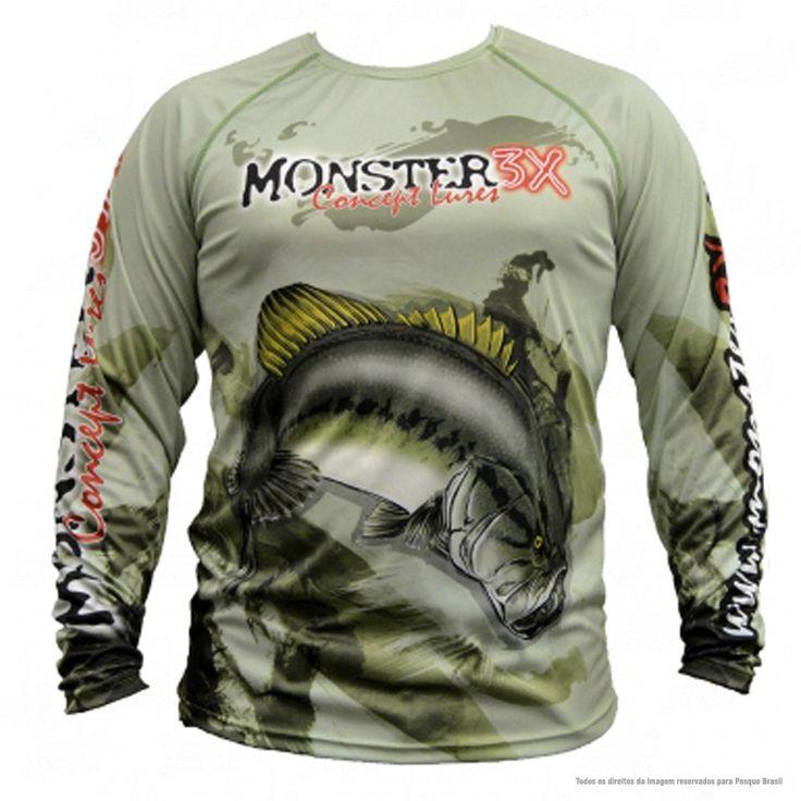 Para os amantes da pesca chegou ao mercado a linha de camisas de pesca Fish Collection desenvolvida pela Monster 3x, uma linha de camisetas para pesca 100 Poliester, com diversas estampas para deixar qualquer pescador contente!