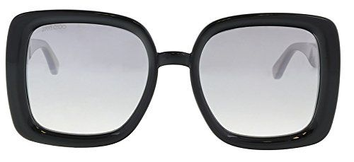 915963f6c25a Jimmy Choo CAIT S S 0NS8 Black Glitter Square Sunglasses for ...