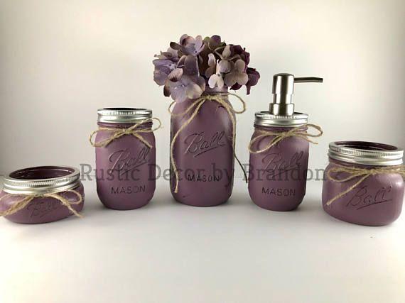 Collective- Rustic lavender bathroom decor. #Ad#bathroomdecor#lavender
