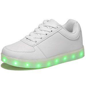 HUSK'SWARE LED Chaussures 7 Couleu Enfants USB Charge LED Lumineux Chaussures de Sports Baskets Chaussures Garçon Fille