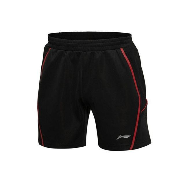 Li-Ning Men Badminton Shorts Polyester Fiber Quick Dry Breathable Flexible Training Game Sport Shorts Li-Ning AAPK301 MKY220