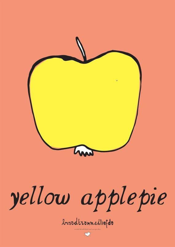 Vrolijke en grappige posters met kleurrijke door broodtrommelliefde