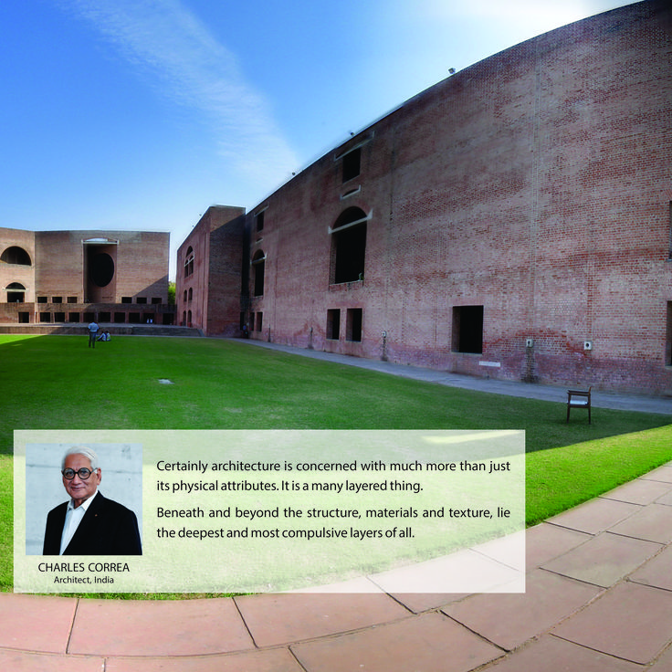 Architect Charles Correa's architectural marvels are cherished world-wide. Along with designing many notable landmark buildings like Gandhi Memorial at Sabarmati, he was also the chief architect of Navi Mumbai, the satellite suburb of Mumbai. His work will always shine. May his soul rest in peace.