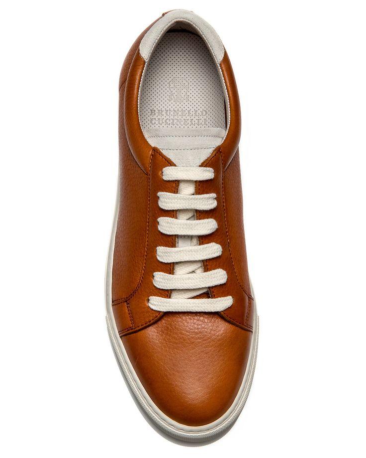 Brunello Cucinelli Cognac Leather Sneaker