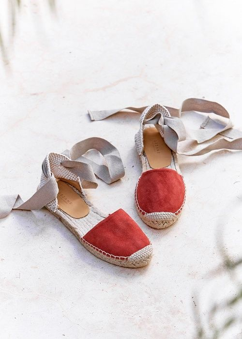 Sézane - Pré collection Printemps Sunrise www.sezane.com Espadrilles Low Milano #sezane #precollection #printemps #sunrise