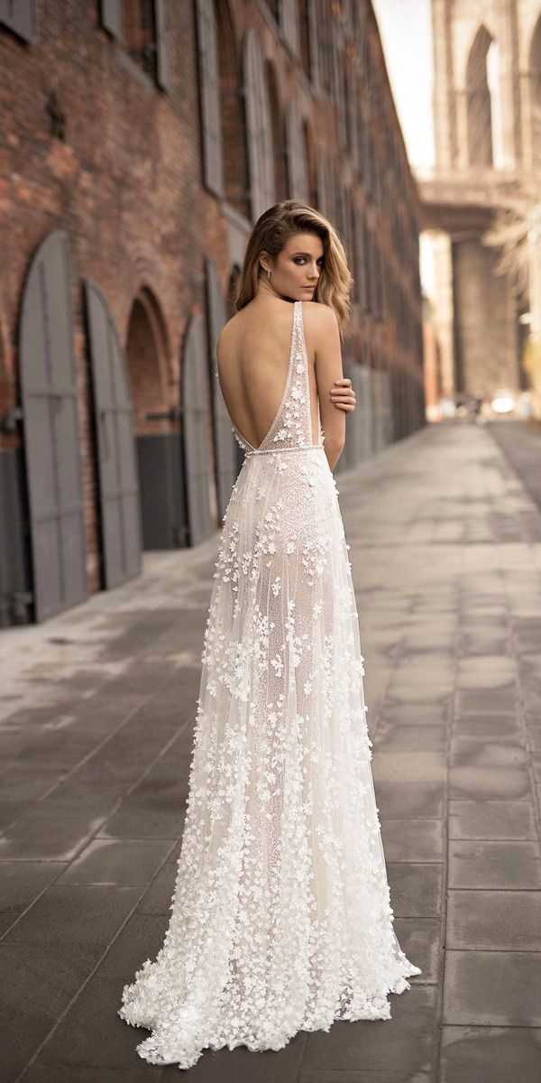 18 Berta 2018 Wedding Dresses - Spring Collection ❤ berta 2018 wedding dresses straight low back with straps ❤ See more: http://www.weddingforward.com/berta-2018-wedding-dresses/ #wedding #bride