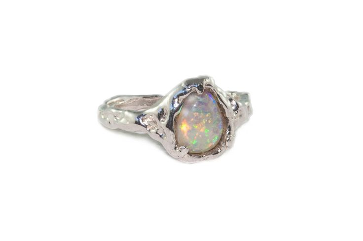 Holliegraphic handcrafted Australian crystal opal ring