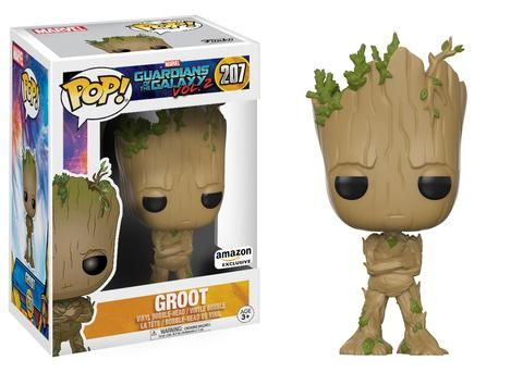 Guardians of the Galaxy Vol. 2: Groot (grumpy face) Pop figure by Funko, Amazon exclusive