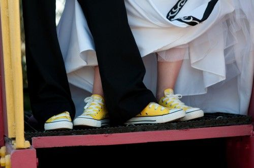 Yellow converse for everyone!