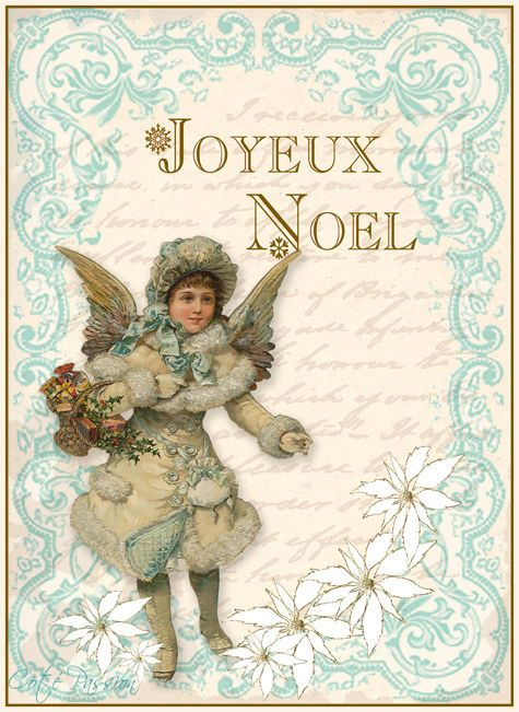 A lovely free Christmas angel printable. #Victorian #printables #downloadable #scrapbooking