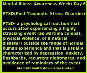 Mental Illness Awareness Week: Day 6 PTSD