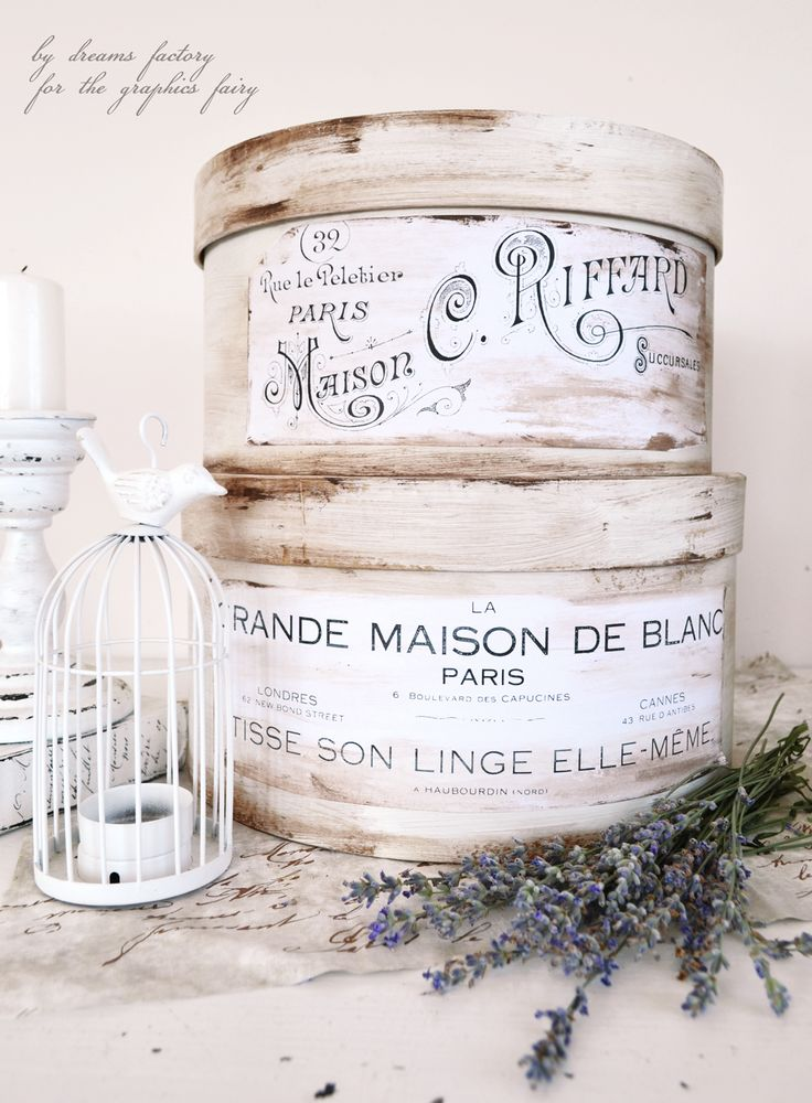 Learn how to make some amazing Antique French Hat Boxes and use them all over your home for their aesthetics but also for storage