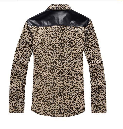 Мужская леопардовая рубашка
