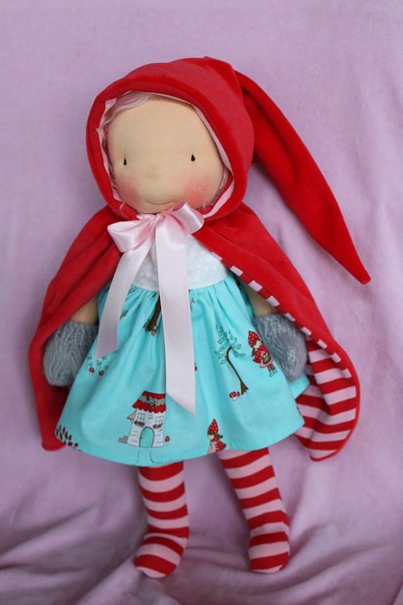 Inspiration: Waldorf doll 4 pc Little Red outfit for a 16 to 17 by reggiesdolls