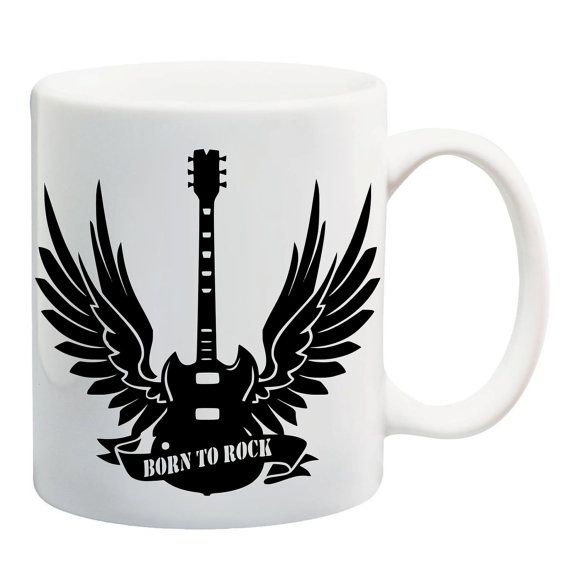Coffee mug born to Rock guitar with wings  https://www.etsy.com/de/listing/453338574/rock-tasse-bedruckte-tasse-mit-motiv