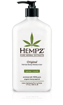 Hempz herbal body moistureizer....smells delish.