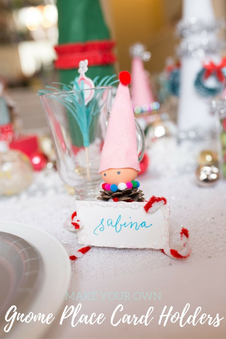 Diy christmas party table decorations - Diy Gnome Place Card Holders Add So Much Fun To Christmas Party Tables These Diy Christmas Decorating Ideas Add Handmade Charm To Your Christmas Decor