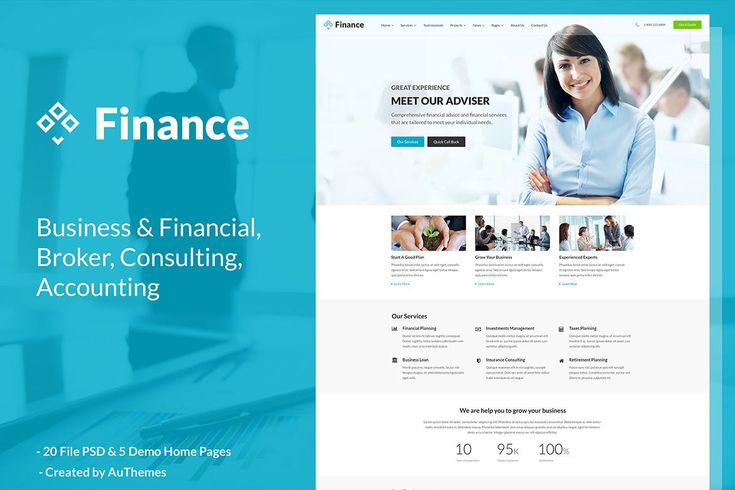 Finance - Business and Finance Corporate  Website Template PSD