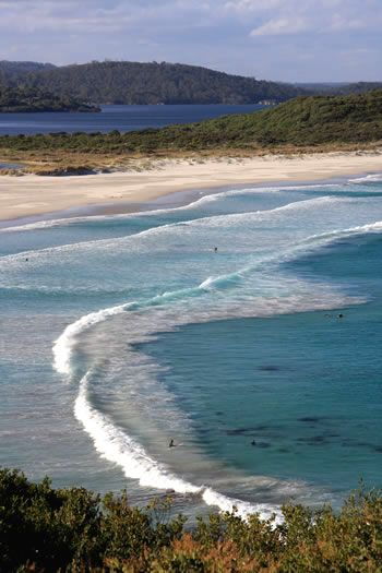 Ocean Beach, Denmark, Western Australia is part of the Bibbulmun Track where you cross the sandbar onto Nullaki Peninsula (when possible) or take the northern route around the Wilson Inlet along the Heritage Trail and regain the track here.