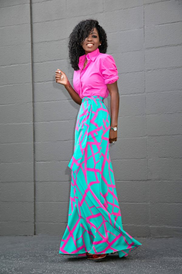 Button Down Shirt + Belted Flowy Maxi Skirt  Outfit Details:Shirt (old): Similar here (so many color options) | Skirt: Available here (wearing sz xs) | Shoes (Old prada platforms): Similar here or hereFashion by Style Pantry