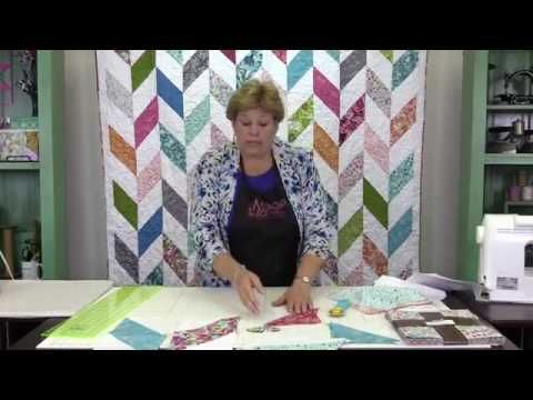 The Herringbone Quilt: Easy Quilting Tutorial with Jenny Doan of Missouri Star Quilt Co - YouTube--Layer Cake quilt