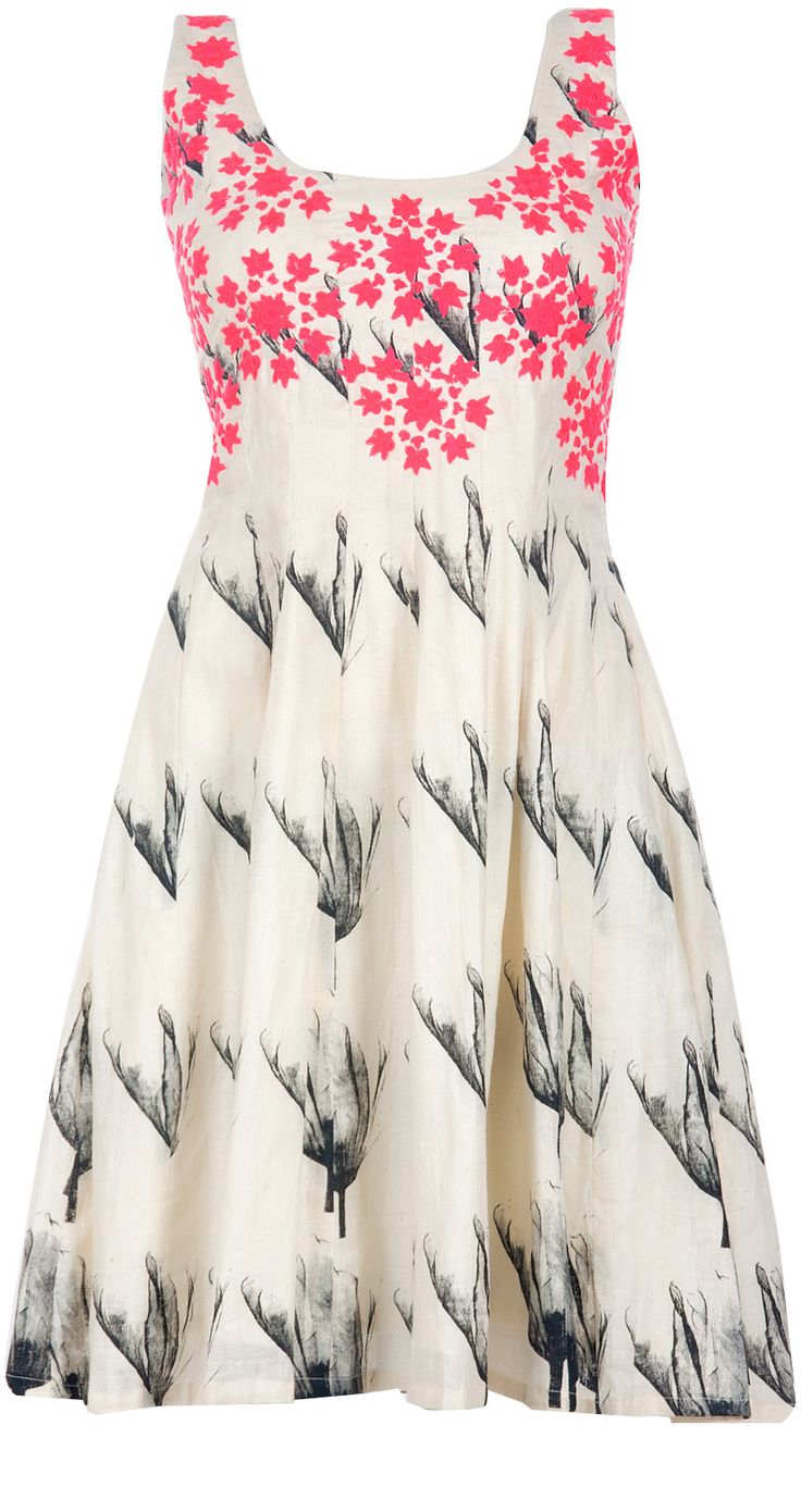 Tulip printed short dress by MASABA. Shop at http://www.perniaspopupshop.com/whats-new/masaba-70