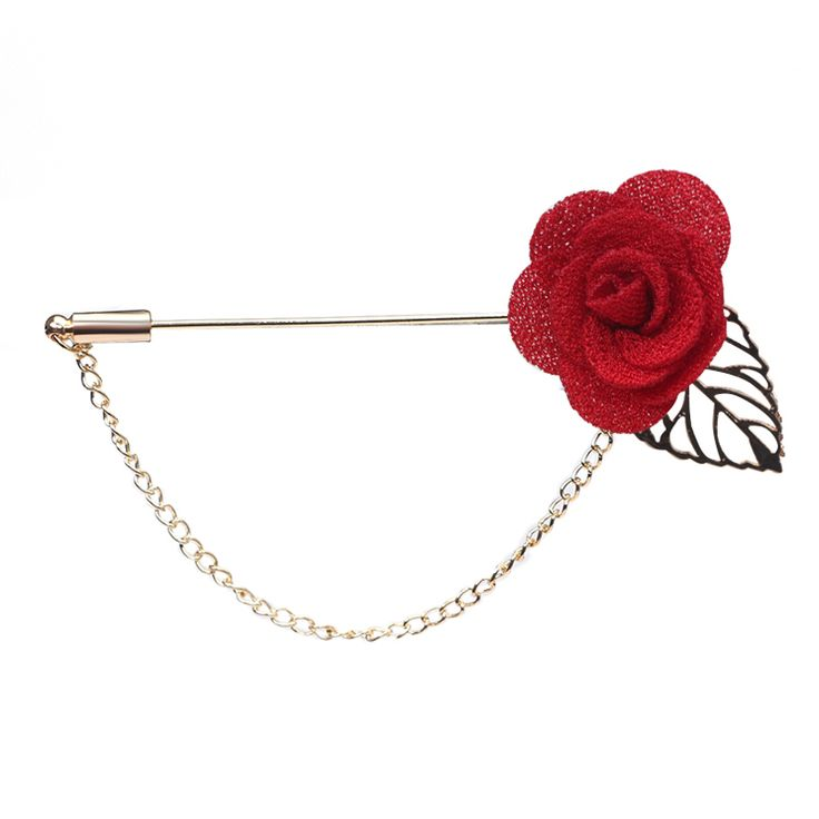 Trendy Handmade Flower Brooch Lapel Pins for Women Men Suit Boutonniere Button Stick Brooches Wedding Party Jewelry Accessorie