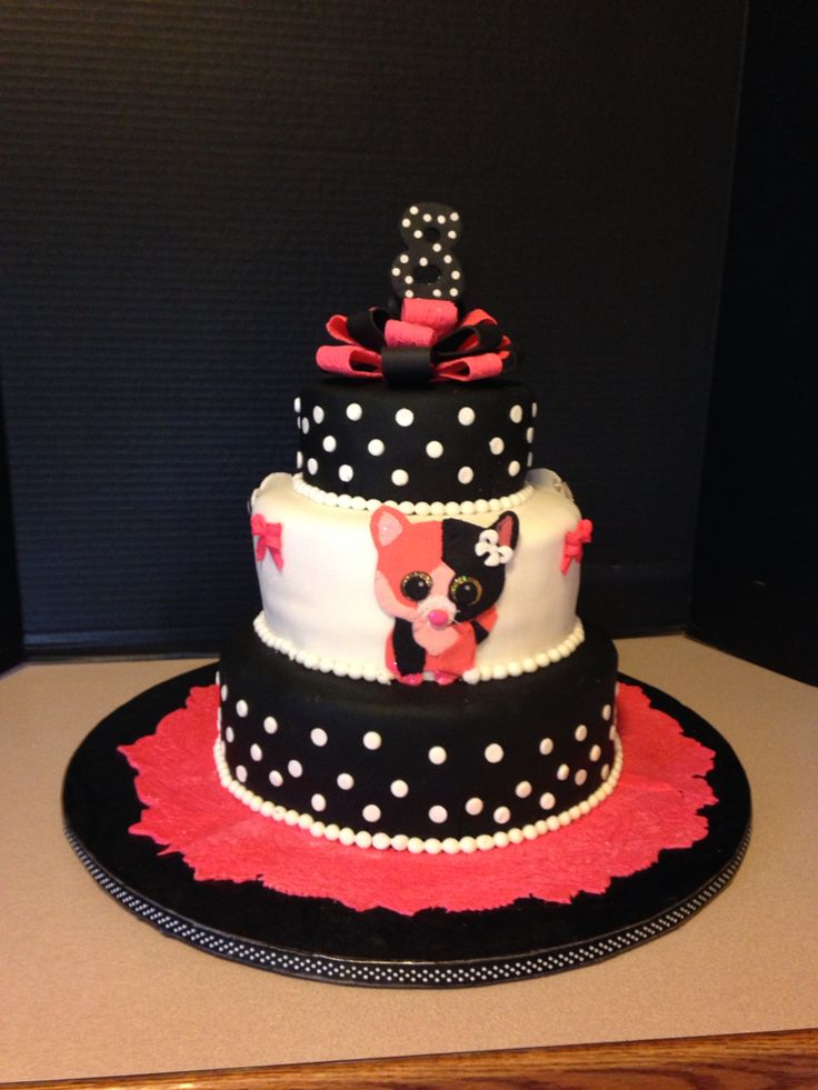 Beenie Boo Cake My Cakes Beanie Boo Birthdays Beanie