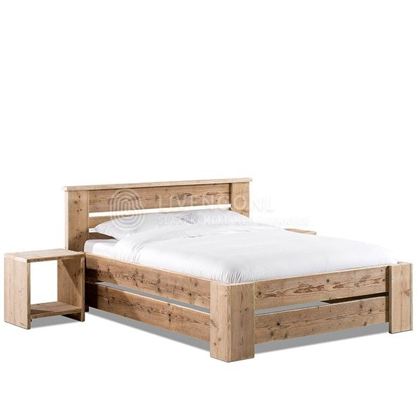 Bed steigerhout - model 'Simple 2.0' | scaffold wooden bed 'Simple 2.0' | http://www.livengo.nl/steigerhouten-bed/steigerhouten-volwassen-persoonsbedden/steigerhouten-bed-simple20 | #steigerhoutenbed #slaapkamer #comforthoogte #livengo