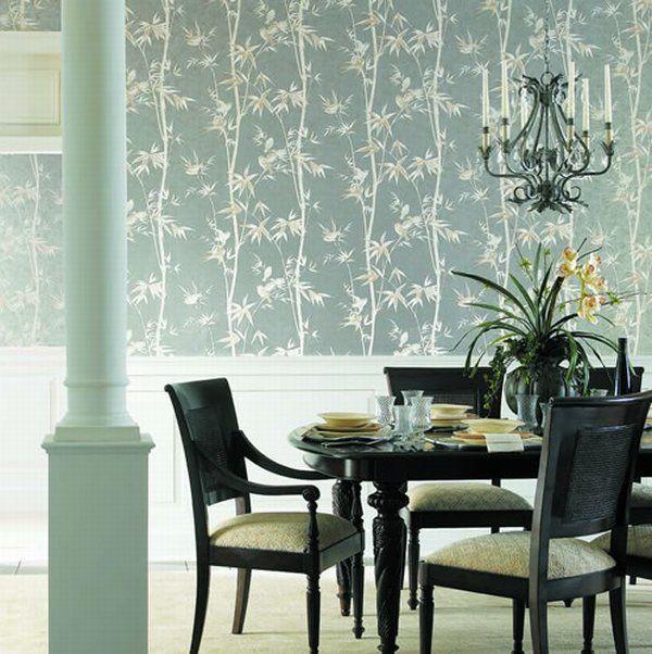 wainscotting and wallpaper - Wallpaper Design Ideas