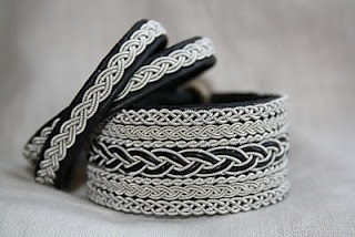 Traditional sapmi tin bracelets