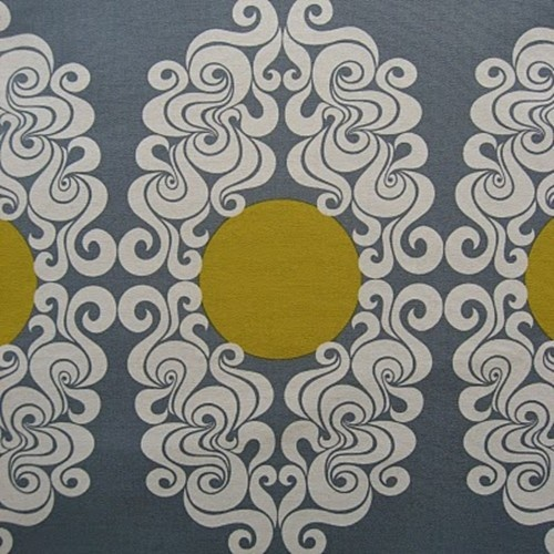 gray yellow white grey medallion eclectic home decor ideas wallpaper fabric for the home. Black Bedroom Furniture Sets. Home Design Ideas