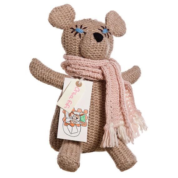 SHEBEAR FIFI woolen teddy bear friend of children by ZOODILANA, €110.00