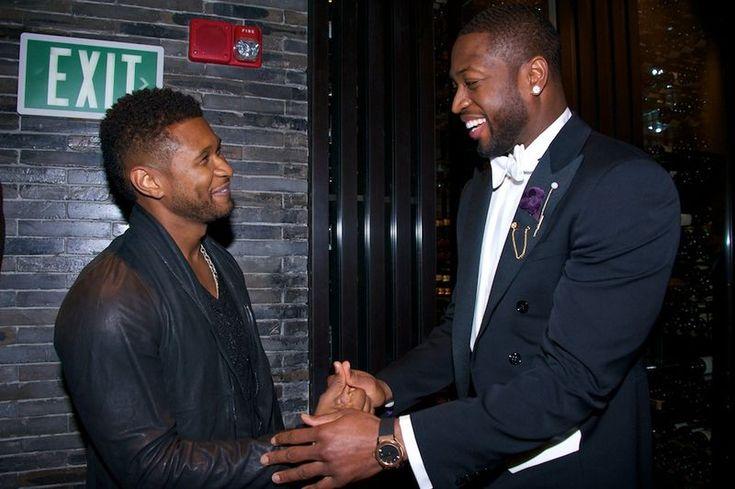Usher And Dwyane Wade