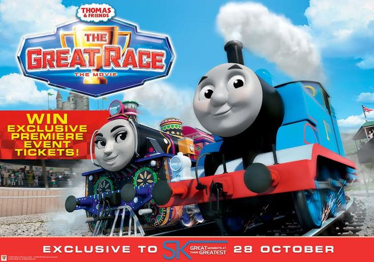 Win a family set of four tickets to see the new Thomas movie this Sunday.