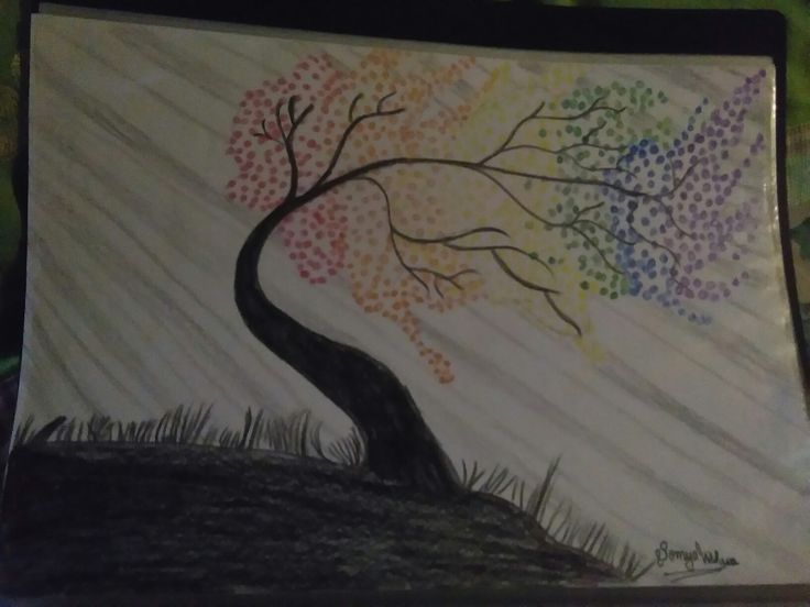 Rainbow tree from somya